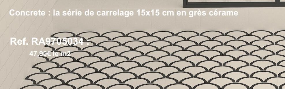 carrelage imitataion carreaux de ciment s'inspirant des formes zelliges
